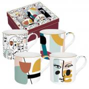 Coffret 4 Mugs 30cl en porcelaine
