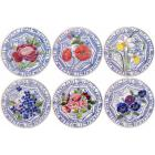 Coffret de 4 Assiettes dessert Fruits - diam. 21,8 cm